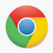 chrome icon circle with 3 colours (green, red and yellow around) and a blue dot in the middle