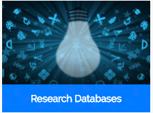 picture of a light bulb and symbols with Research Databases written underneath