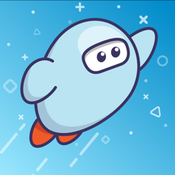 Cartoon Robot Flying