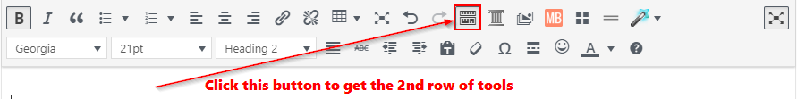 Toolbar Toggle button location