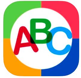 ABC alphabet Phonics app icon colored letters ABC