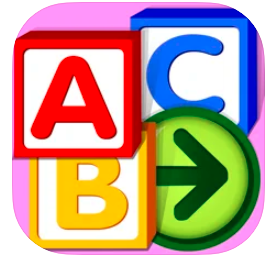 icon for Starfall ABC blocks with A B C on it
