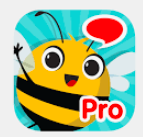 articulation station pro app icon and bee with a speech bubble and the word Pro