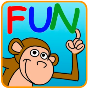 icon for Fun with directions app monkey with the word fun