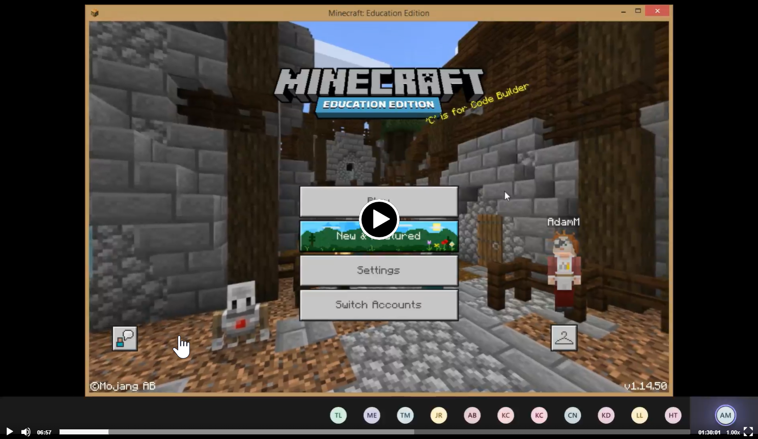 Minecraft Training video - Part 1