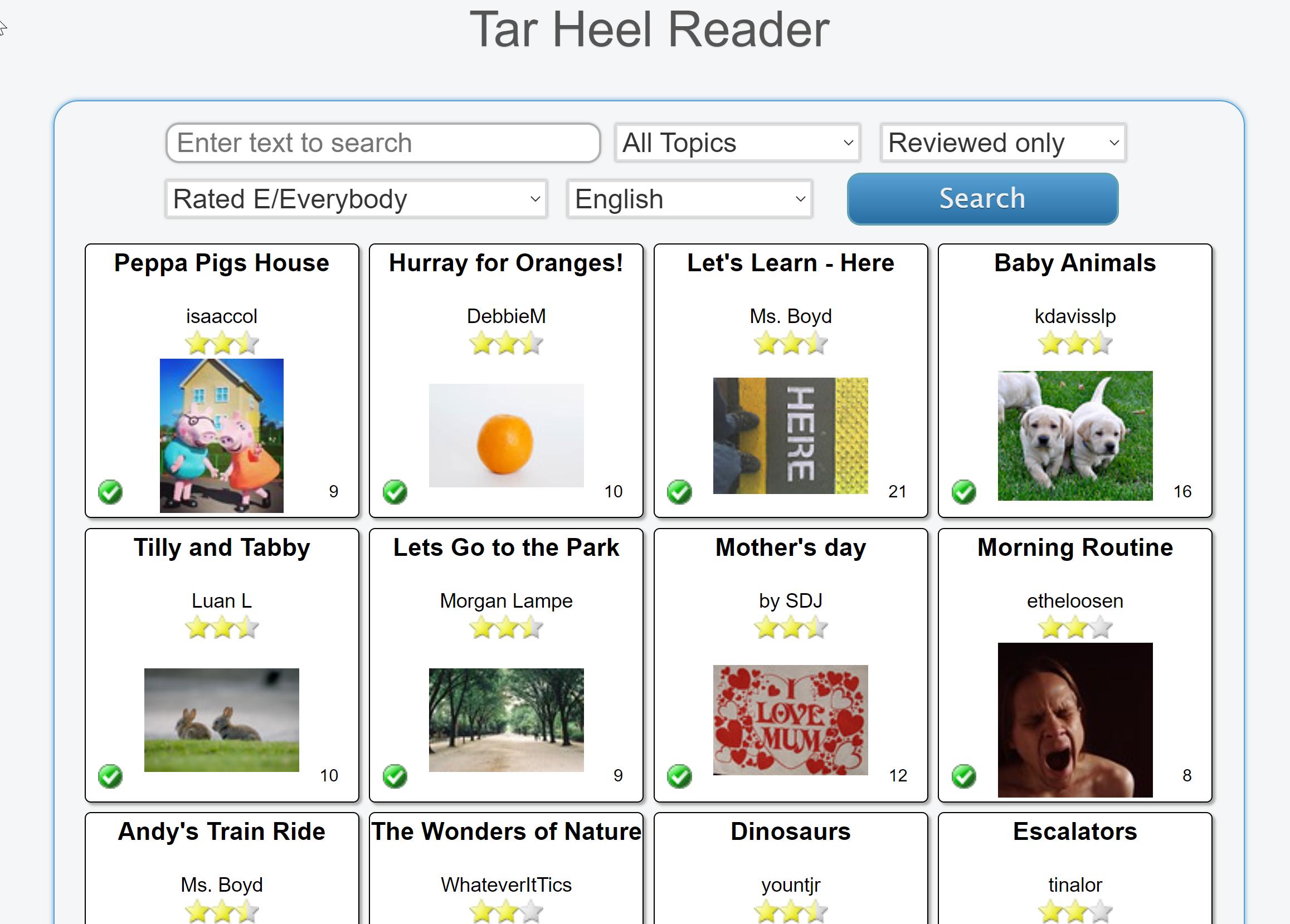Tar Heel Reader